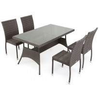 Pöytä Atlanta, 80x140cm, harmaa