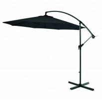 Aurinkovarjo, riippuva, 300cm, musta