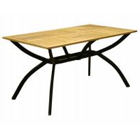 Pöytä Viren, 80x140cm, puu/musta
