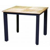 Pöytä Viren, 90X90cm, puu/musta