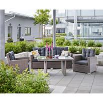Sohvaryhmä Durban (2xlepotuolit, 3h-sohva, pöytä) harmaa