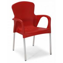Tuoli Marieholm, pinottava, punainen