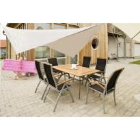 Aurinkovarjokatos 4x4m, luonnonvalkoinen