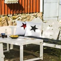 Koristetyyny Hillerstorp Tähti, sininen + punainen 45234