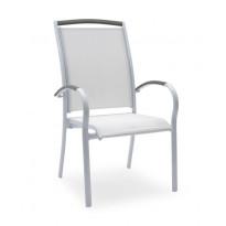 Nojatuoli Hillerstorp Nydala, valkoinen/harmaa 46017