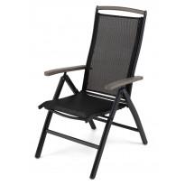 Nojatuoli Nydala, säädettävä, musta/harmaa (46114)