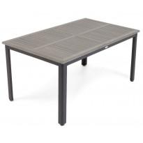 Pöytä Nydala, 90x150cm, harmaa/musta