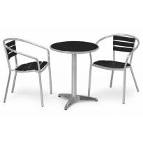 Pöytä Hillerstorp Hillerstorp Alunda, musta/alumiini 6170