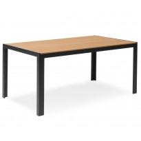 Pöytä Annie, 90x150cm, musta/tiikki