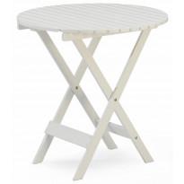 Pöytä Vaxholm, Ø70cm, taitettava, valkoinen