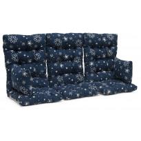 Istuinpehmuste Dalom pihakeinuun, 174x128x10cm, sininen kukkakuvio