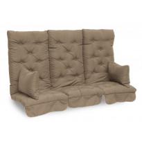 Istuinpehmuste Dalom pihakeinuun, 174x128x10cm, ruskeanharmaa