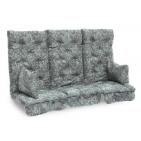 Istuinpehmuste Dalom pihakeinuun, 174x128x10cm, turkoosi kasmirkuviointi