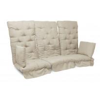 Istuinpehmuste Dalom pihakeinuun, 174x128x10cm, vaaleanbeige