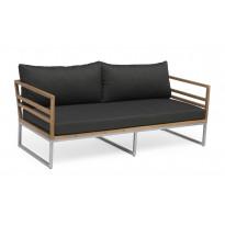 Sohva Kaxheden, 3-istuttava, tummanharmaa/ruskea
