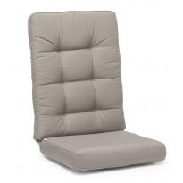 Istuinpehmuste Texas, korkea, säänkestävä, 127x56x11cm, harmaa