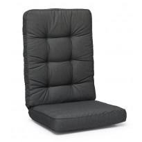 Istuinpehmuste Texas, korkea, säänkestävä, 127x56x11cm, tummanharmaa