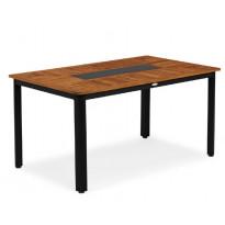Pöytä Nydala, 90x150cm, musta/ruskea