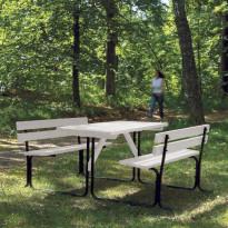 Piknik pöytäryhmä, valkoinen