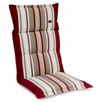 Istuinpehmuste Milano, raidallinen, punainen (9807482)