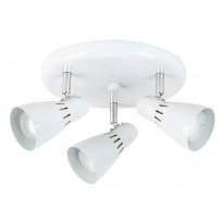 Kattospotti Heat Mio Round, 235x120mm, 3-osainen, valkoinen