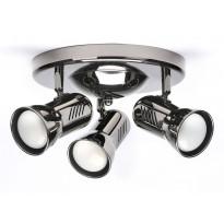 Kattospotti Heat Alfa-Easy, 360x180mm, 3-osainen, mustakromi