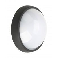 LED-seinävalaisin Heat Moon, 168x168mm, musta
