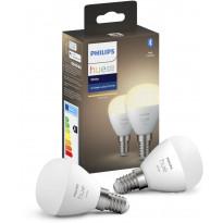 LED-älylamppu Philips Hue W, 5.7W, E14, P45, 2kpl/pkt