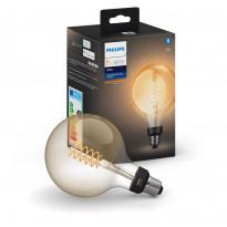 LED-älylamppu Philips Hue W, 7W, E27, G125