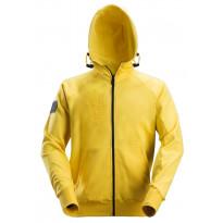 Vetoketjuhuppari Snickers Workwear 2880, logolla, keltainen