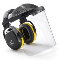 Kuulosuojaimet ja visiiri Hellberg Secure Safe 2, sangalla, polykarbonaatti