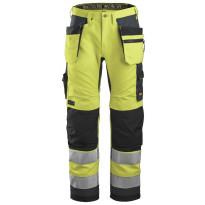 Huomiotyöhousut Snickers Workwear AllroundWork+ 6230, keltainen
