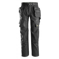 Lattia-asentajan housut Snickers Workwear FlexiWork 6923, musta