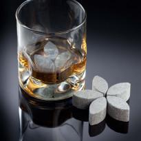 Whiskykukka-jääkivet, 38x18mm, vuolukivi, 6kpl/pkt