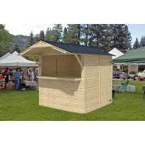 Kioski 2000x2030 mm 4,06 m² harjakattoinen puuvalmis