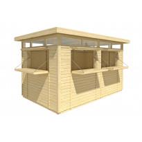 Kioski 3940x2410 mm 9,5 m² tasakattoinen puuvalmis