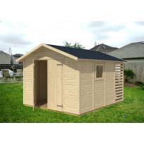 Kombi-varasto 2410x3640 mm 8,7 m² puuvalmis