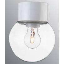Kattovalaisin Ifö Electric Classic Glob, Ø150mm, kirkas kupu, valkoinen, suora, IP54
