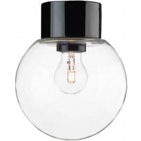 Kattovalaisin Ifö Electric Classic Glob, Ø150mm, kirkas kupu, musta, suora, IP54