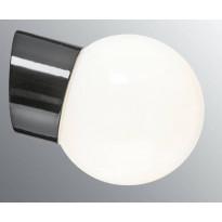 Seinävalaisin Ifö Electric Classic Glob, Ø150mm, opaalilasi, musta, vino, IP54