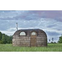 Sauna Iglusauna Double, 2-osainen, 9 m², kuusi/haapa, puukiukaalla