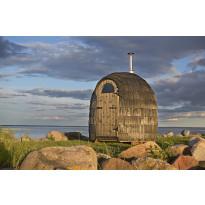Sauna Iglusauna Single, 4,15 m², kuusi/haapa, puukiukaalla, eebenpuu/luonnollinen