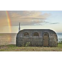 Sauna Iglusauna Triple, 3-osainen, 11,5 m², kuusi/haapa, sähkökiukaalla