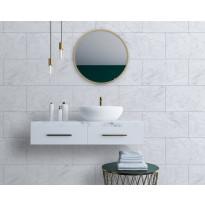 Sisustuslevy Innovera Décor Tongue&Groove Carrara Marble, 5x400x620mm, PVC, valkoinen