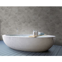 Sisustuslevy Innovera Décor Tongue&Groove Urban Cement Dark Grey, 5x400x620mm, PVC, tummanharmaa