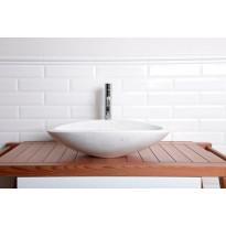Kiviallas Interia Blok, marmori, pöytätasolle, kiillotettu valkoinen, 580 X 380 X 140 mm