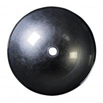 Lasiallas Interia Skin, pöytätasolle, metallinhohtoinen harmaa, 420 X 420 X 140 mm