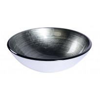 Lasiallas Interia Damar, pöytätasolle, metallinhohtoinen harmaa, 420 X 420 X 140 mm