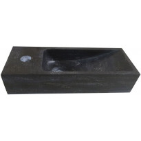 Pesuallas Interia 39-3507, 380x140x80mm, vasenkätinen, luonnonkivi, musta