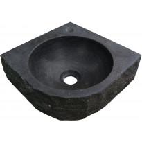 Pesuallas Interia 39-3509, 300x300x100mm, luonnonkivi, musta